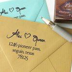 Monté en bois personnalisé Save The Date Tampon personnalisé Timbre pour mariage Cadeau de mariage de la marque Printtoo image 1 produit