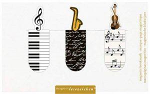 Moses. 31122Marque-page magnétique Musique Lot de 3, Signet magnétique, charmant Illustré de la marque Moses image 0 produit