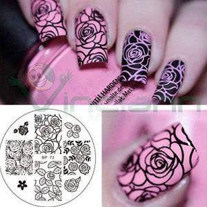 Moule roses flower moule tampon Décoration décorations ongles Ongle Nail Art de la marque Vinciann image 0 produit