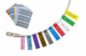 Mr-Label® Auto-adhésif autocollant Étiquette de câble - étanche | Résistant à la déchirure | Durable - Avec l'outil d'impression en ligne - pour imprimante laser (20 Feuilles (600 Étiquettes))(10 Couleurs assorties) de la marque Mr-Label image 0 produit