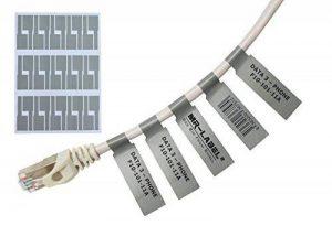 Mr-Label® Auto-adhésif autocollant Étiquette de câble - étanche | Résistant à la déchirure | Durable - Avec l'outil d'impression en ligne - pour imprimante laser (20 Feuilles (600 Étiquettes))(gris) de la marque Mr-Label image 0 produit
