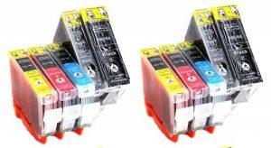 Multipack = 10 Compatible XL Cartouches d'encre avec PUCE & contrôle du niveau, pour Canon CLI-8 PGI-5 (CLI-8BK, CLI-8M, CLI-8C, CLI-8Y, PGI-5BK) directement applicable, pour imprimantes Canon Pixma MP 960, Pixma MP 970, Pixma MP 610, Pixma MP 950, Pixma image 0 produit