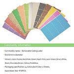 NBEADS 6mm Petits Autocollants de Point Rond Auto-Adhésifs étiquettes de Codage de Couleur Collante étiquettes de marquage, 28 Feuilles (13328 Points), Couleur Mixte, 22,2 x 12,5 cm de la marque NBEADS image 1 produit