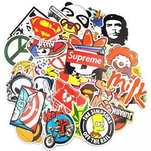 Neuleben Autocollant Lot (200-pcs) Graffiti Autocollant Stickers vinyles pour ordinateur portable, enfants, voitures, moto, vélo, Skateboard bagages, Bumper Stickers hippie autocollants Bomb étanche. de la marque Sanmatic image 0 produit
