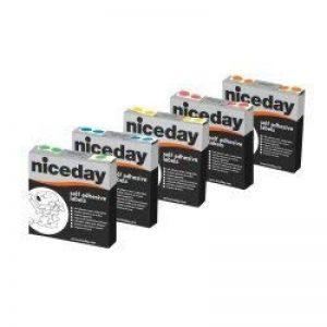 Niceday Boîte de 1000étiquettes circulaires de couleur rouge 10mm de la marque Niceday image 0 produit