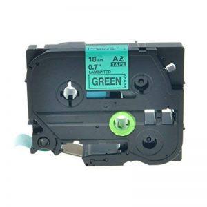 Nineleaf 1pk laminé Noir sur vert Cassette ruban d'étiquettes pour Brother P-Touch Tz741TZe 74118mm étiquetage machine à rubans de la marque NineLeaf image 0 produit