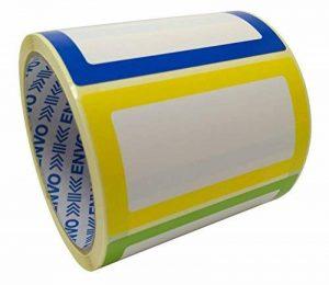 Nom Étiquettes Coloré Nominatives Autocollants 250 étiquettes/Pack divers coloris (3 couleurs) au format 90 x 50 mm de la marque ENVO image 0 produit