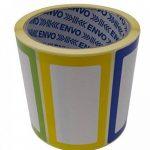 Nom Étiquettes Coloré Nominatives Autocollants 250 étiquettes/Pack divers coloris (3 couleurs) au format 90 x 50 mm de la marque ENVO image 2 produit
