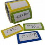 Nom Étiquettes Coloré Nominatives Autocollants 250 étiquettes/Pack divers coloris (3 couleurs) au format 90 x 50 mm de la marque ENVO image 4 produit