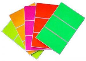 Nom étiquettes Stickers Home Moving Boîtes étiquettes pour marquer et l'Identification 10,2cm pouces X 5,1cm pouces (102mm x 51mm) par Royal Vert 30 5-COLORS de la marque Royal Green image 0 produit