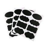 NouveLife Lot DE 48 Etiquette Ardoise Autocollante Stickers Bocaux Etiquette Tableau Noir Réutilisable Imperméable Marqueur Craie Effaçable 6 Feuilles Bocal Pot Carton Boîte de la marque NouveLife image 1 produit
