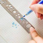 NUOLUX 4pcs signet pochoir inox creux dessin modèle icône outil bricolage Photo Album/journal/lettre accessoires souverain (ballon + poisson + cheval oiseau) de la marque NUOLUX image 4 produit