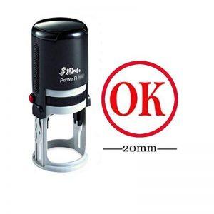OK cachet rond auto-encrage en caoutchouc personnalisés Shiny 20 mm mini-Timbres personnalisés enseignants Timbres de la marque Printtoo image 0 produit