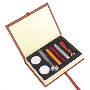 ONEVER Kit de timbres de cachet de cire rétro | Insigne d'école de magie | Cuillère à cire | Coffret cadeau de la marque ONEVER image 0 produit