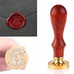 ONEVER Kit de timbres de cachet de cire rétro | Insigne d'école de magie | Cuillère à cire | Coffret cadeau de la marque ONEVER image 2 produit