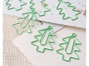 OVVO Simple 6 Pcs/Set Sapin de Noël Marquer Page Marker Paperclip Papeterie Matériel d'apprentissage de la marque OVVO image 0 produit