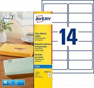 papier étiquettes autocollantes transparentes TOP 3 image 0 produit