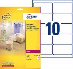 papier étiquettes autocollantes transparentes TOP 6 image 0 produit