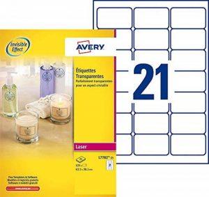 papier étiquettes autocollantes transparentes TOP 7 image 0 produit