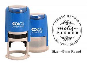 Personlized auto-encreur Tampon en caoutchouc COLOP R-40Creative Design Art Stamp 40mm 40 MM Encre noire de la marque PrintValue image 0 produit