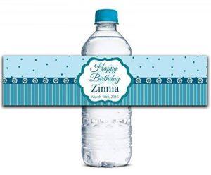"""Personnalisés bouteille d'eau étiquettes adhésives autocollants personnalisés Anniversaire 8 """"x 2"""" pouces imperméables - 30 lables de la marque Printtoo image 0 produit"""