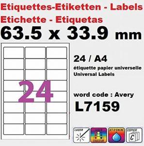 planche étiquette TOP 4 image 0 produit