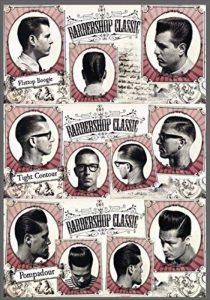 """'Plaque vintage avec impression publicitaire """"Barber Shop Hair Cut Classic Plaque en PVC 20x 14cm autocollant de la marque PUBLI 2000 image 0 produit"""