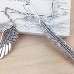Plumes marque-page eMosq en laiton métallique fait à la main dans un superbe coffret cadeau wing-silver de la marque eMosQ image 1 produit