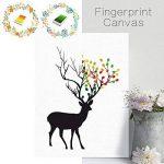PLYY Elk Fingerprint Tree Toile Peinture DIY Sign-in Livre Livre d'or la fête de Mariage 8 tampons encreurs de la marque PLYY image 1 produit
