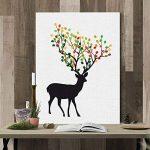 PLYY Elk Fingerprint Tree Toile Peinture DIY Sign-in Livre Livre d'or la fête de Mariage 8 tampons encreurs de la marque PLYY image 3 produit