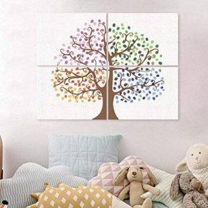 PLYY Ensemble de 4 PCS Fingerprint Tree Peinture Sign-in Book Home Decor la fête de Mariage 16 tampons encreurs de la marque PLYY image 0 produit