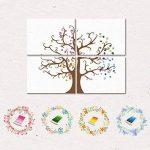 PLYY Ensemble de 4 PCS Fingerprint Tree Peinture Sign-in Book Home Decor la fête de Mariage 16 tampons encreurs de la marque PLYY image 1 produit