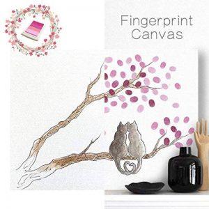 PLYY Peinture sur Toile d'arbre d'empreinte Digitale sans Cadre Sign-in Livre la Noce 4 tampons encreurs de la marque PLYY image 0 produit