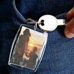 Porte-clefs photo (50 x 35 mm, 3 pièces) en plexiglas transparent pour photo d'identité, image, badge de la marque mia mai Buttons image 1 produit