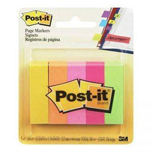 Post-it Marque-page en Papier 15 x 50 mm - Pack de 5 x 100 feuilles de la marque Post-It image 0 produit