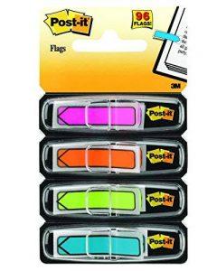 Post-it Marque-pages Fleches - Coloris Assortis - Lot de 4 x 24 Feuilles de la marque 3M image 0 produit