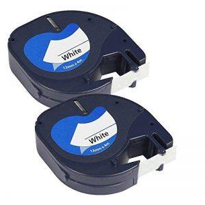 Prestige Cartridge 91201 Lot de 2 Rubans pour Etiqueteuse Dymo LetraTag 12 mm x 4 m Noir sur Blanc de la marque Prestige Cartridge image 0 produit