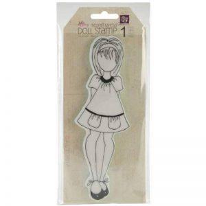 Prima Marketing mousse Julie Nutting Mixed Media étirable en caoutchouc stamps-doll avec robe de poche 2,5x 7,75 de la marque Prima Marketing image 0 produit