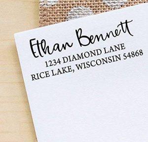 Printtoo Custom Invitation Stationary Adresse de retour Rubber Stamp Personalized Auto Enking de la marque Printtoo image 0 produit