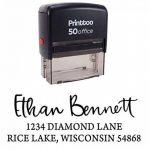 Printtoo Custom Invitation Stationary Adresse de retour Rubber Stamp Personalized Auto Enking de la marque Printtoo image 1 produit