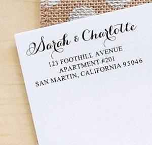 Printtoo Custom Return Adresse Auto Encrage Calligraphie Enveloppe Rubber Stamp Personnalise de la marque Printtoo image 0 produit