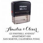 Printtoo Custom Return Adresse Auto Encrage Calligraphie Enveloppe Rubber Stamp Personnalise de la marque Printtoo image 1 produit