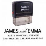 Printtoo Le timbre en caoutchouc de timbre en caoutchouc d'adresse de retour de Customtoo fait sur commande d'invitation de mariage fait sur commande enveloppe de la marque Printtoo image 1 produit