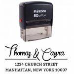 Printtoo Personnalise Retour Adresse Famille Stamper Personnalise Encrage Encreur Rubber Stamp de la marque Printtoo image 1 produit