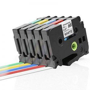 Ptouch TZ Tape, Ruban pour brother Compatible avec PT-H100LB PT-E100 PT-D400 PT-1250 PT-H110, Cartouche TZe-231 TZe-431 TZe-531 TZe-631 TZe-731, 12mm x 8m, 5-pack de la marque Oozmas image 0 produit