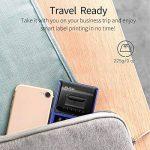 PUQU-LABEL Puqu Bluetooth imprimante d'étiquettes, Portable sans Fil Thermique Étiqueteuse Q20avec Batterie Rechargeable, Super Léger et Impression HD pour Android et iOS Système Compatible–Bleu de la marque PUQU-LABEL image 1 produit
