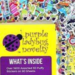 Purple Ladybug Novelty Stickers 3D en Relief pour Enfant, Fille et Garçon de Grand Lot DE 80 Planches Toutes Différentes et Plus de 2000 Autocollants | Gommettes Animaux, Lettres, Smiley et Autres de la marque Purple Ladybug Novelty image 1 produit