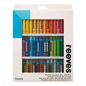 Reeves 4892715 Set DE 48 Pastels à la Cire de la marque Reeves image 0 produit