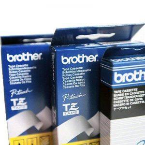 Repositionnable sur dévidoir plastique jetable pour brother p-touch noir sur blanc 65 mm 12 dymo cassette de rangement de 12 mm x 65, 4mtr. de la marque Brother image 0 produit