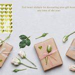 Royal Vert Doré Cœur métallique Autocollant enveloppe joints–Or Code couleur étiquettes adhésif permanent–Lot de 200 de la marque Royal Green image 1 produit